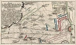 """Plan der Bataille bey Minden den 1. Augst 1759 ."""".: Minden: Schlacht 1759:"""