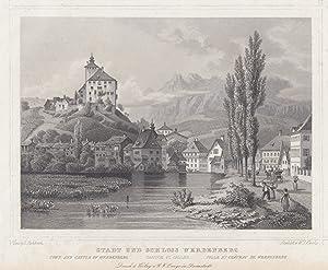 Gesamtansicht, m. Schloß.: Werdenberg/Kt. St. Gallen: