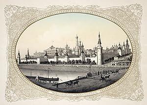 """TA., Kreml, """". - Vue du Kremlin prise du coté de l'Est"""".: Moskau ( Moskwa / Moscow ):"""