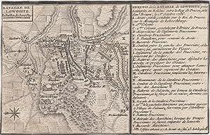 "Umgebungskarte, ""Bataille de Lowozitz"".: Lovositz ( Lovosice ) Böhmen: Schlacht 1756:"