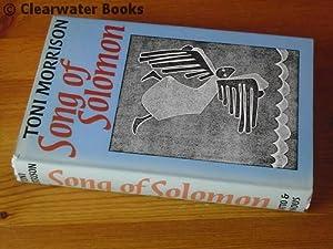 Song of Solomon. A novel.: TONI MORRISON