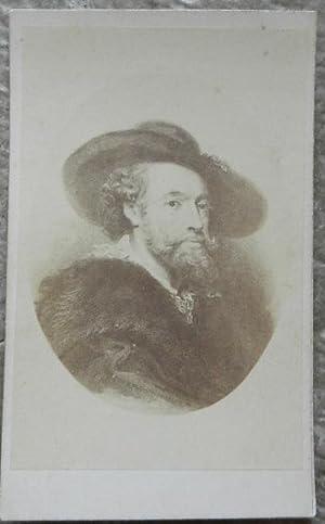 Carte de visite. Portrait de Rubens d'après: H. Tournier