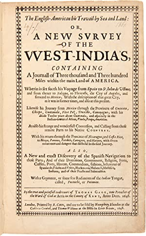 THE ENGLISH-AMERICAN HIS TRAVAIL BY SEA AND LAND: OR, A NEW SURVEY OF THE WEST-INDIAS [sic], CONT...
