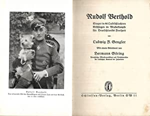 Rudolf Berthold. Sieger in 44 Luftschlachten. Erschlagen im Bruderkampfe für Deutschlands Freiheit....