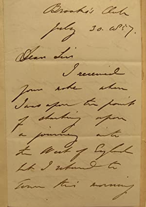 Eothen, or, Traces of travel brought home from the East. With autographed letter from Eastlake: ...