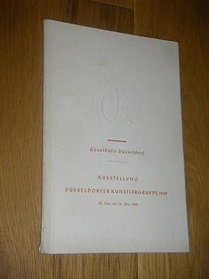 Ausstellung Düsseldorfer Künstlergruppe 1949. 27. Nov. bis: Schardt, Hermann (Gest.)