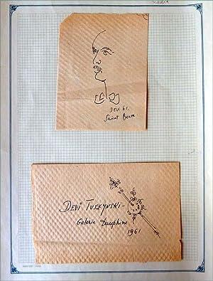 Deux documents du peintre.: Devi Tuszynski.