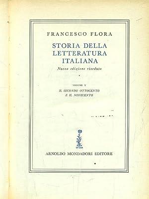 Storia della letteratura italiana. Volume 5: Flora, Francesco