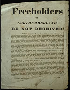 Freeholders Of Northumberland Be Not Deceived
