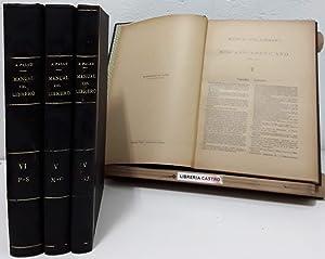Manual del Librero Hispano-Americano. Tomos IV, V,: Antonio Palau y