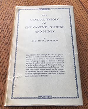 Seller image for THE GENERAL THEORY OF EMPLOYMENT INTEREST AND MONEY. for sale by Paul Foster. - ABA & PBFA Member.
