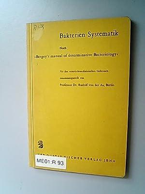 """Bakterien-Systematik : Nach """"Bergey's manual of determinative: Aa, Rudolf von"""