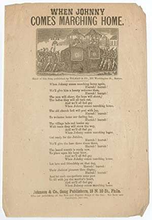 Civil War Song Sheet: When Johnny Comes Marching Home