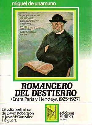 Romancero del destierro (Entre París y Hendaya: Unamuno, Miguel de