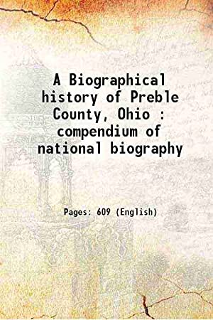 A Biographical history of Preble County Ohio: Anonymous