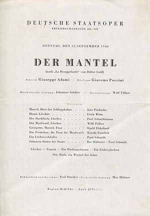 """Der Mantel ( nach """"La Houppelande"""" ).: Berlin, Deutsche Staatsoper."""