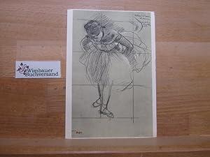 Postkarte Danseuse inclinée en avant / Dancer: Degas, Edgar :