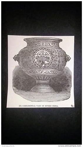 Immagine del venditore per Vaso ornamentale di Sevres Cina Incisione del 1851 venduto da LIBRERIA IL TEMPO CHE FU