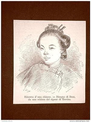 Immagine del venditore per Moda e costume in Cina nel 1863 Ritratto di donna cinese Disegno di Dorè venduto da LIBRERIA IL TEMPO CHE FU