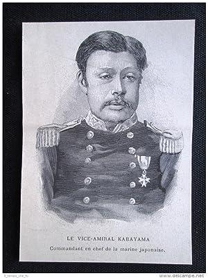Immagine del venditore per Viceammiraglio Kabayama, Comandante marina Giappone Incisione del 1894 venduto da LIBRERIA IL TEMPO CHE FU