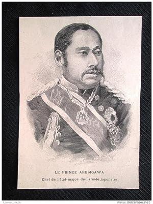 Immagine del venditore per Principe Arusigawa, Comandante armata del Giappone Incisione del 1894 venduto da LIBRERIA IL TEMPO CHE FU