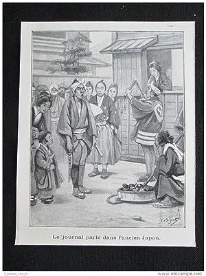 Immagine del venditore per Il giornale parlante nell'antico Giappone Stampa del 1903 venduto da LIBRERIA IL TEMPO CHE FU