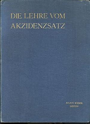 Die Lehre vom Accidenzsatz. [Akzidenzsatz]. Erste Aufl. von Alexander Waldow.: Bauer, Friedrich: