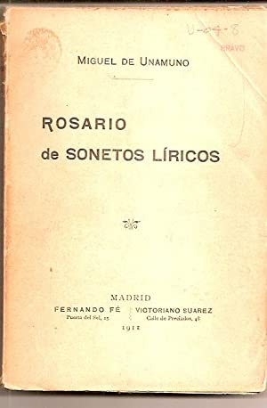 ROSARIO DE SONETOS LIRICOS: Unamuno, Miguel de