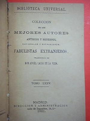 Fabulistas Extranjeros. Traducción de Don Angel Lasso