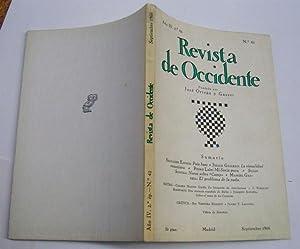 Revista De Occidente. nº 42. País Basc; La Visualidad Veneciana; Mi Soria Pura; Notas Sobre [Camp];...