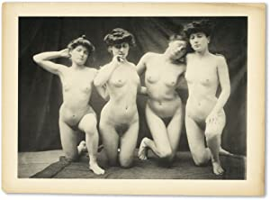 19th Century Erotic Gravure of Four Nude Women: PHOTOGRAPH]