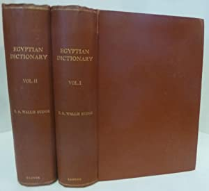 An Egyptian Hieroglyphic Dictionary [2 Volumes, First: Budge, E. A.