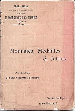 printed Belgian numismatic auction catalgue] Catalogue des: Major Auguste Daufresne