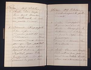 Tagebuch des August Windisch-Grätz. 1849. Tome Douzieme.: Militaria - Windisch-Grätz, August.