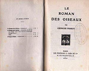Le roman des oiseaux: Ponsot Georges