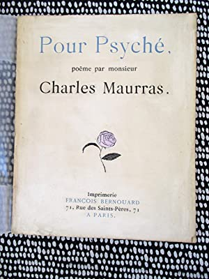 POUR PSYCHE Poetry by CHARLES MAURRAS French Alt-Right Anti-Semite Fascist 1/550