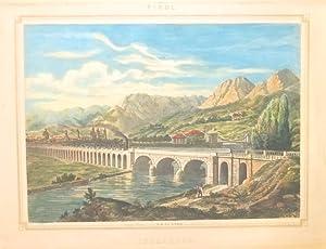 """Innsbruck Tirol"""". Farblithographie nach Basilio Armani."""