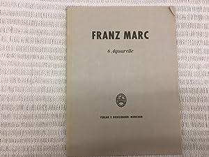 6 Aquarelle: MARC, Franz