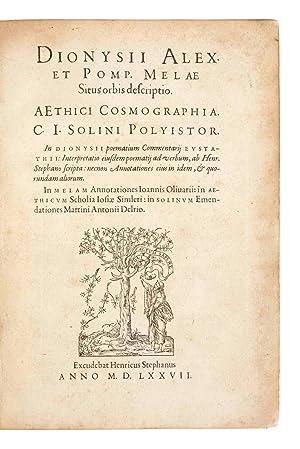 Dionysii Alex. et Pomp. Melae Situs orbis: DIONYSIUS Periegetes, Pomponius