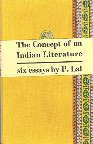 Seller image for Concept of an Indian Literature: Six Essays for sale by PERIPLUS LINE LLC