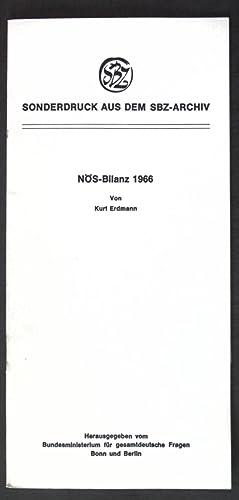 NÖS-Bilanz 1966; Sonderdruck aus dem SBZ-Archiv;: Erdmann, Kurt:
