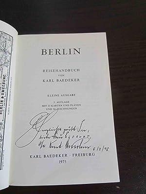 Baedekers Berlin. Reisehandbuch. Kleine Ausgabe. 3. Auflage.: Baedeker, Karl.