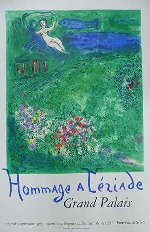 Hommage a Teriade. [Plakat / Farblithographie].Grand Palais,: Chagall, Marc: