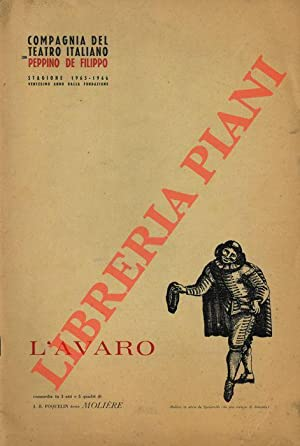 L'avaro di Molière.: Compagnia del Teatro