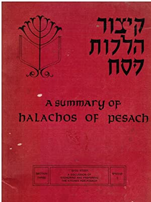 A Summary of Halachos of Pesach: a: Eider, Rabbi Shimon