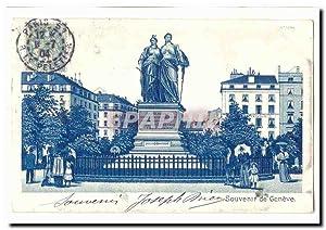 Suisse Carte Postale Ancienne Souvenir de Geneve