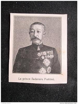 Immagine del venditore per Il principe del Giappone Sadanaru Fushimi Stampa del 1907 venduto da LIBRERIA IL TEMPO CHE FU