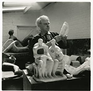Archive of 16 original photographs of Henry Moore, 1966