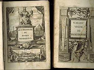 Descrizione di Roma Antica [and] Descrizione di: Rossi, Filippo Onofrio