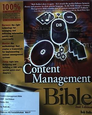 Content Management Bible.: Boiko, Bob: